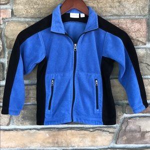 Unisex Kids Korner Blue/Black Fleece Jacket